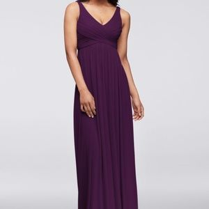 NWT Long Dress with Mesh & Swooping Cowl Back